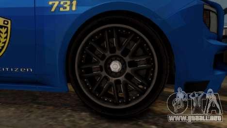 Hunter Citizen v2 IVF para GTA San Andreas vista posterior izquierda