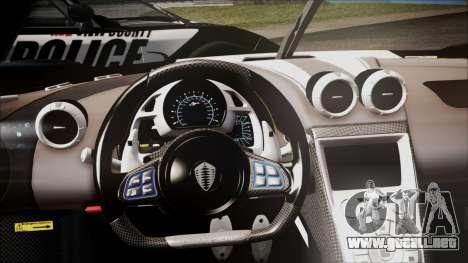 NFS Rivals Koenigsegg Agera R para la visión correcta GTA San Andreas