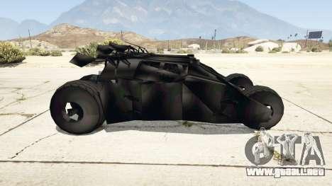 GTA 5 Batmobile v0.1 [alpha] vista lateral izquierda