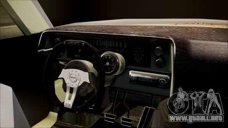 Ford Falcon 3.0 para GTA San Andreas vista posterior izquierda