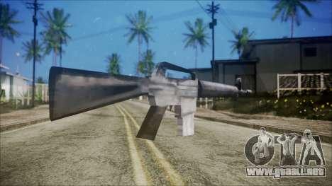 M16 para GTA San Andreas segunda pantalla
