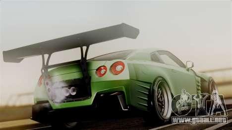 Nissan GT-R R35 Bensopra 2013 para GTA San Andreas left