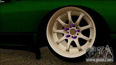 Nissan 240SX S13 para GTA San Andreas vista posterior izquierda