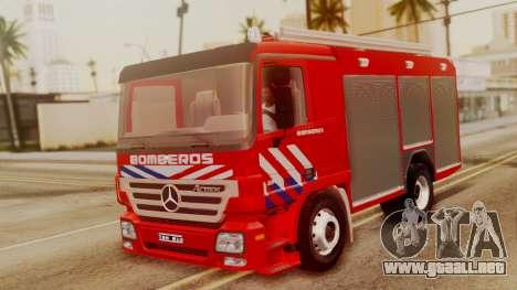 Mercedes-Benz Actros Bomberos para GTA San Andreas