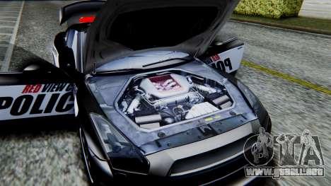 NFS Rivals Nissan GT-R R35 para GTA San Andreas vista hacia atrás