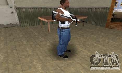 Chrome AUG para GTA San Andreas tercera pantalla