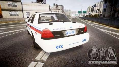 Ford Crown Victoria Bohan Police [ELS] WL para GTA 4 Vista posterior izquierda