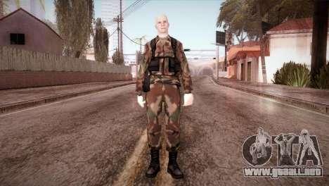 Shaved Soldier para GTA San Andreas segunda pantalla