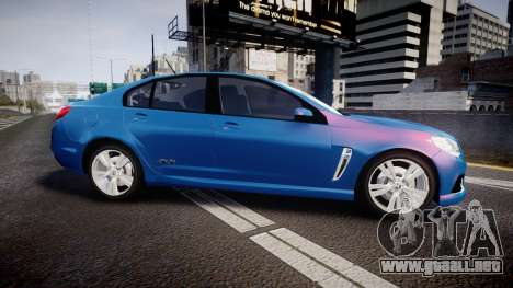 Holden VF Commodore SS Unmarked Police [ELS] para GTA 4 left
