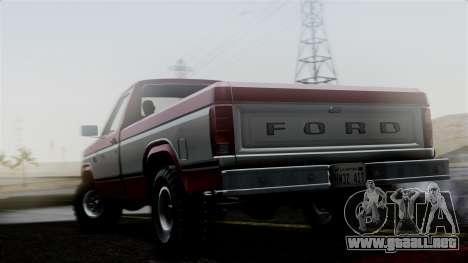Ford F-150 Ranger 1984 para GTA San Andreas left