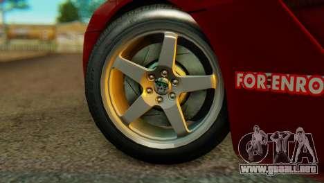 Dodge Viper SRT10 para GTA San Andreas vista posterior izquierda