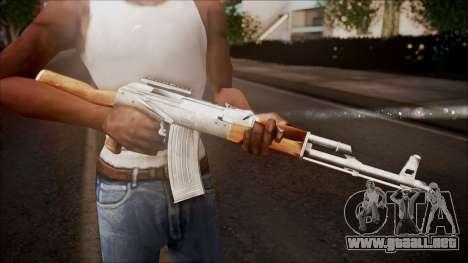 AK-47 v1 from Battlefield Hardline para GTA San Andreas tercera pantalla