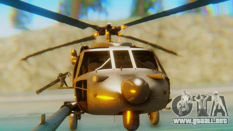 MH-60L Blackhawk para visión interna GTA San Andreas