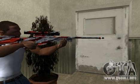 Red Flag Sniper Rifle para GTA San Andreas