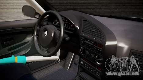 BMW M3 E36 GT-Shop para GTA San Andreas vista posterior izquierda