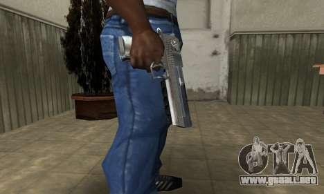 Cool Silver Deagle para GTA San Andreas segunda pantalla