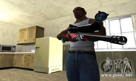 Red Shark Sniper Rifle para GTA San Andreas