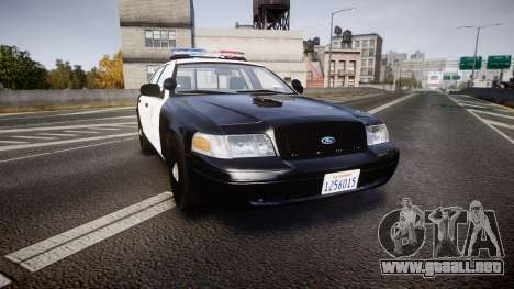 Ford Crown Victoria 2011 LAPD [ELS] rims2 para GTA 4