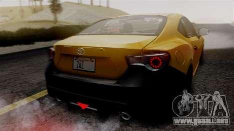 Toyota GT86 PJ para la vista superior GTA San Andreas
