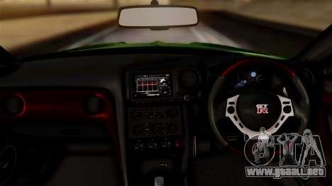 Nissan GT-R R35 Bensopra 2013 para la visión correcta GTA San Andreas