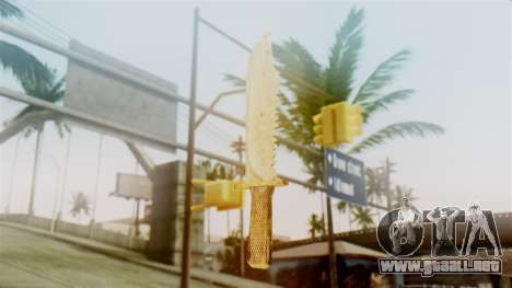 Red Dead Redemption Knife Sergio para GTA San Andreas