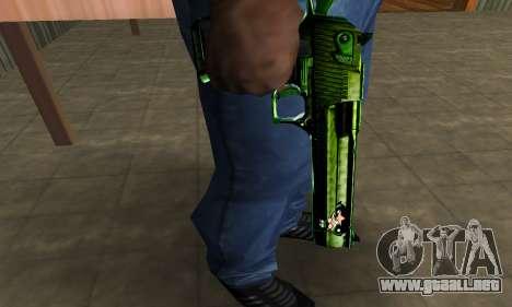Green Clayn Deagle para GTA San Andreas