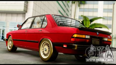 BMW M5 E28 1985 NA-spec para GTA San Andreas left
