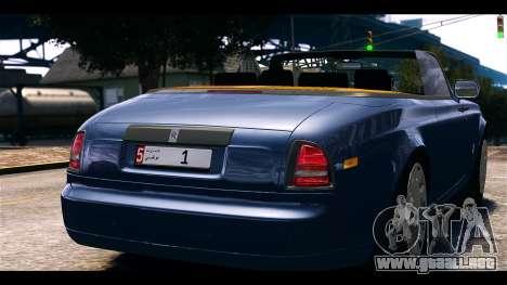 Rolls-Royce Phantom 2013 Coupe v1.0 para GTA 4 Vista posterior izquierda