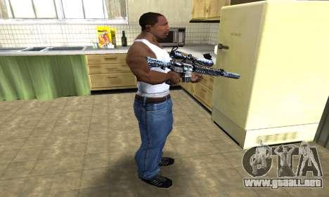 Blue Snow Sniper Rifle para GTA San Andreas tercera pantalla