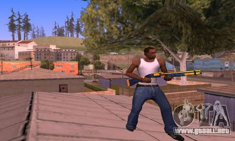Shotgun BlueYellow para GTA San Andreas tercera pantalla