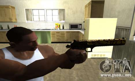 Yellow Jungle Deagle para GTA San Andreas tercera pantalla