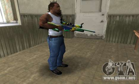 Three Colors Sniper Rifle para GTA San Andreas tercera pantalla