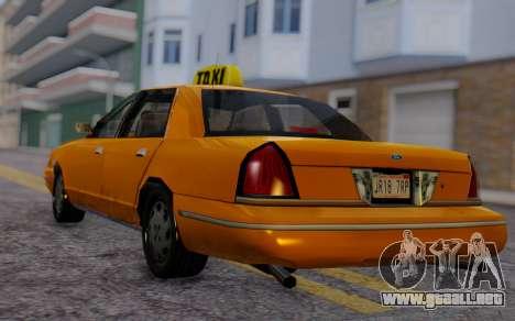 Ford Crown Victoria Taxi para GTA San Andreas left