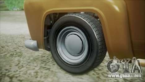 GTA 5 Vapid Slamvan para GTA San Andreas vista posterior izquierda