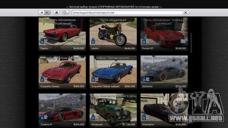 GTA 5 Comprar único de transporte de v1.3 segunda captura de pantalla