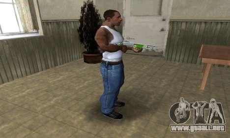 Green Lines Shotgun para GTA San Andreas tercera pantalla
