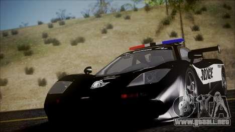 NFS Rivals McLaren F1 LM para la visión correcta GTA San Andreas