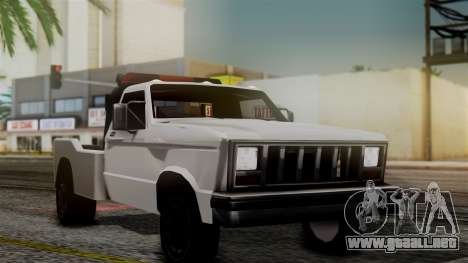 Towtruck New Edition para GTA San Andreas vista posterior izquierda