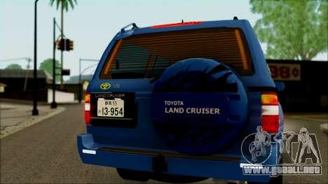 Toyota Land Cruiser 100 UAE Edition para visión interna GTA San Andreas