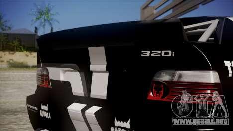 BMW M3 E36 GT-Shop para la visión correcta GTA San Andreas