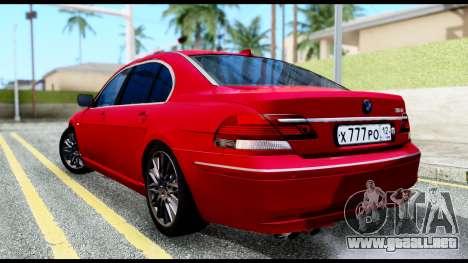 BMW 760Li E66 para GTA San Andreas left