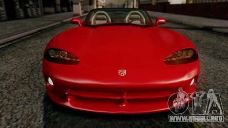 Dodge Viper RT 10 1992 para visión interna GTA San Andreas