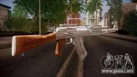 AK-47 v2 from Battlefield Hardline para GTA San Andreas segunda pantalla