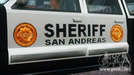 Police 4-door Yosemite para la visión correcta GTA San Andreas