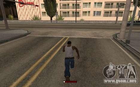 SprintBar para GTA San Andreas segunda pantalla