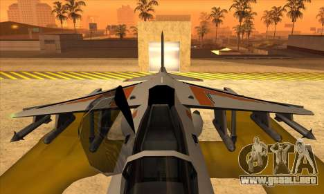 Hydra Asiimov para GTA San Andreas vista posterior izquierda