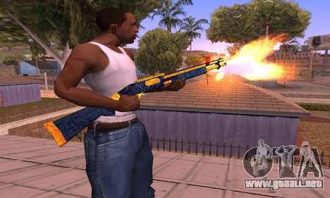 Shotgun BlueYellow para GTA San Andreas segunda pantalla