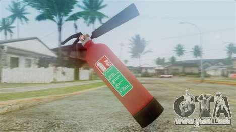 Fire Extinguisher from GTA 5 para GTA San Andreas segunda pantalla