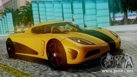 NFS Rivals Koenigsegg Agera R Racer para visión interna GTA San Andreas