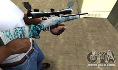 Mini Water Time Sniper Rifle para GTA San Andreas